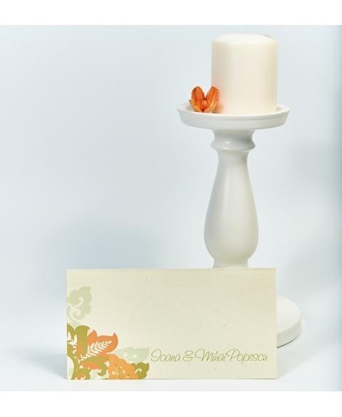 Card masa tip plic dar decor frunze toamna