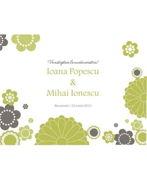 Invitatie electronica interactiva flori retro