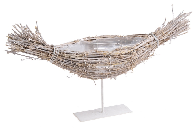 Structura metalica tip barca cu impletitura de nuiele