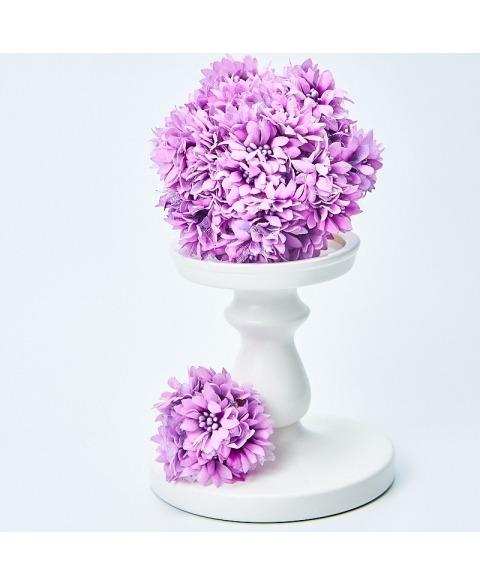 Buchet flori decorative -Dalie Lila