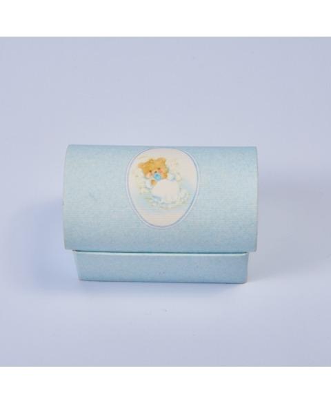 Marturie cutiuta botez cu ursulet albastru -Cofanetto