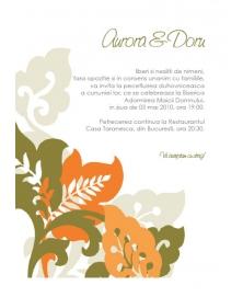Invitatie unicat bambus