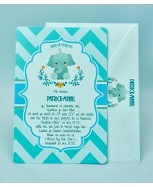 Invitatie botez elefantel simpatic