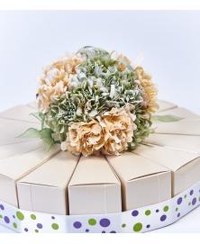 Flori decorative dalie-ivory