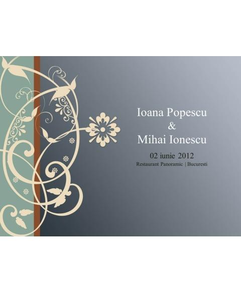 Invitatie electronica accente florale