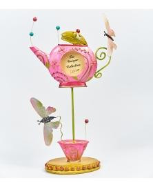 Rama foto ceainic cu fluturi roz
