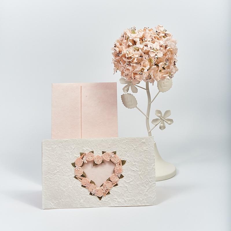 Invitatie cu trandafiri roz