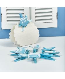 Set carligele decorative botez -albastre