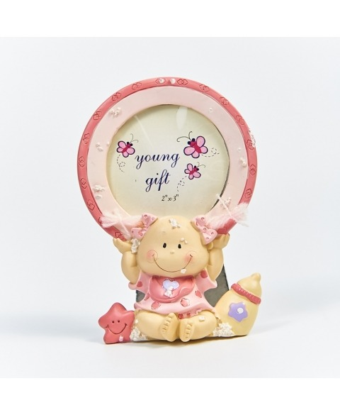 Rama foto fetita roz