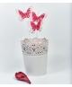 Fluturi rosii cu imprimare inimioare