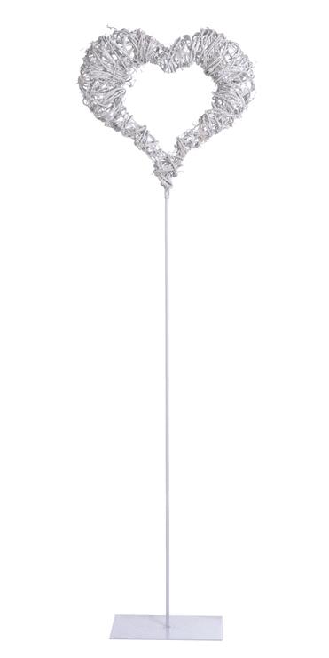 Structura metalica tip inima cu impletitura de nuiele -130