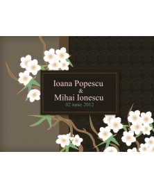 Invitatie electronica interactiva flori nunta asia