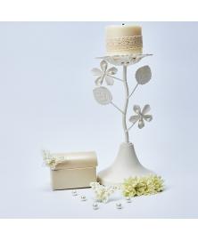 Set fluturi decorativi macrame cu perlute -Ivory
