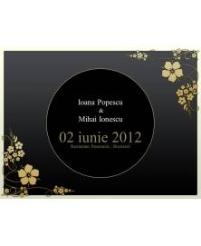 Invitatie electronica interactiva flori nunta