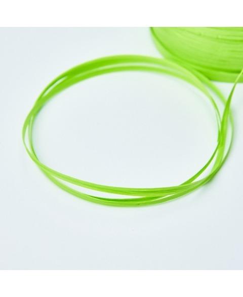 Ribon rafie decorativa verde crud