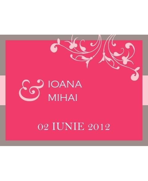 Invitatie electronica interactiva roz