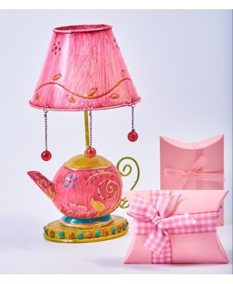 Suport lumanare ceiainic roz