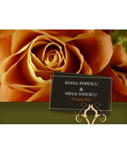 Invitatie electronica interactiva trandafir toamna