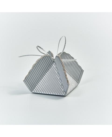 Marturie cutiuta argintiu ondulat -Fagottino