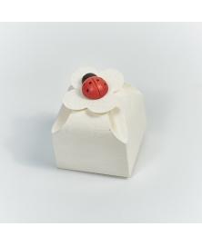 Marturie cutiuta sorgente bianco -Scatola fiore