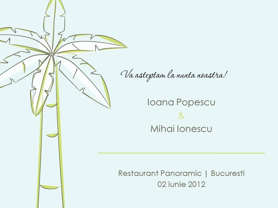 Invitatie electronica interactiva palmier