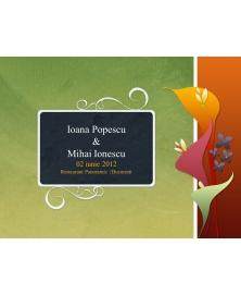 Invitatie electronica interactiva nunta verde