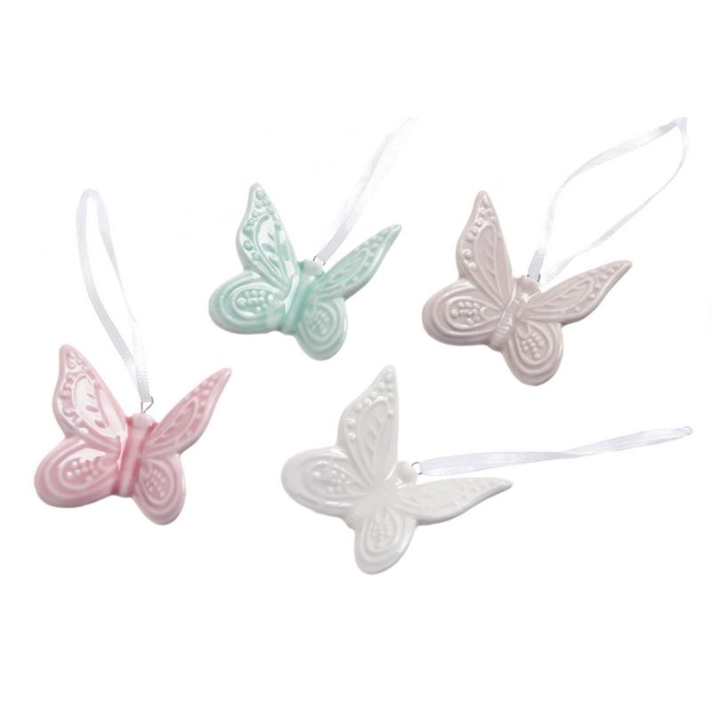 Pandantiv ceramic fluturi