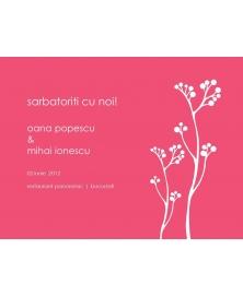 Invitatie electronica interactiva vara roz