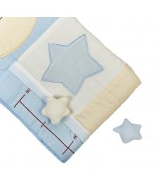 Centimetru decorativ albastru azur