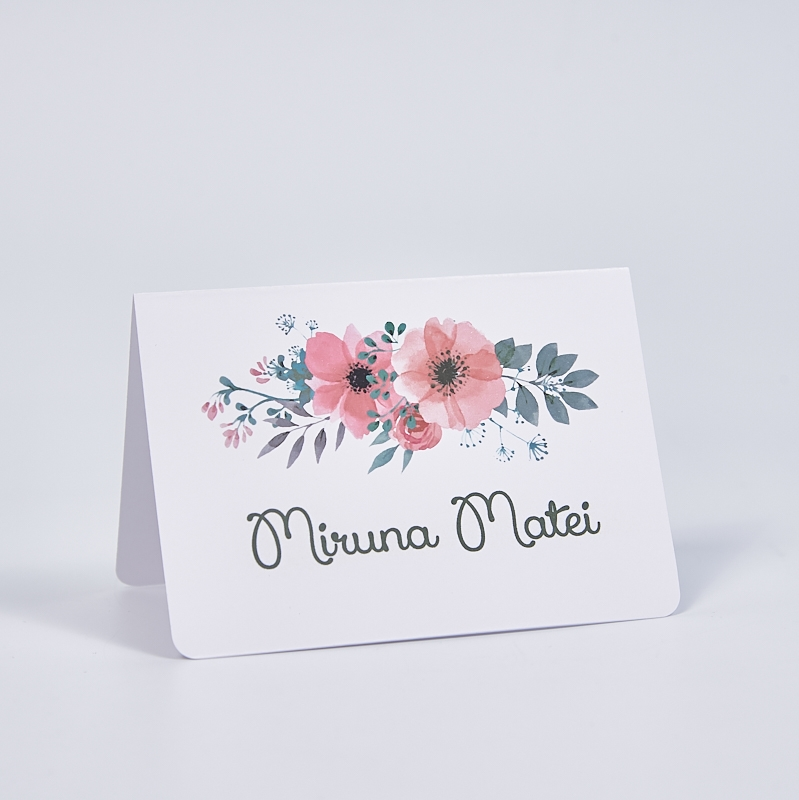 Card masa simplu decor floral