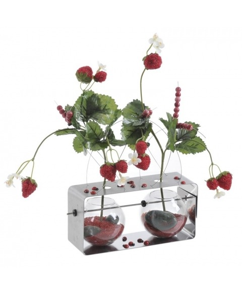 Structura decoratiuni florale metal-sticla 11234