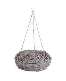 Roata impletita din ramuri de lemn pe lanturi
