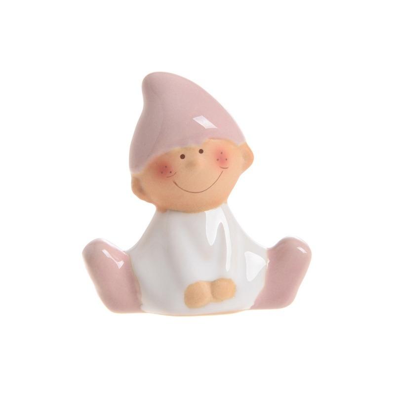 Figurina ceramica elf-roz