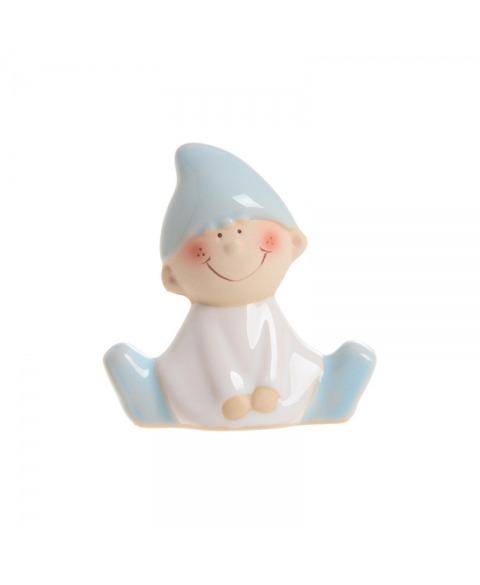 Figurina ceramica elf-bleu