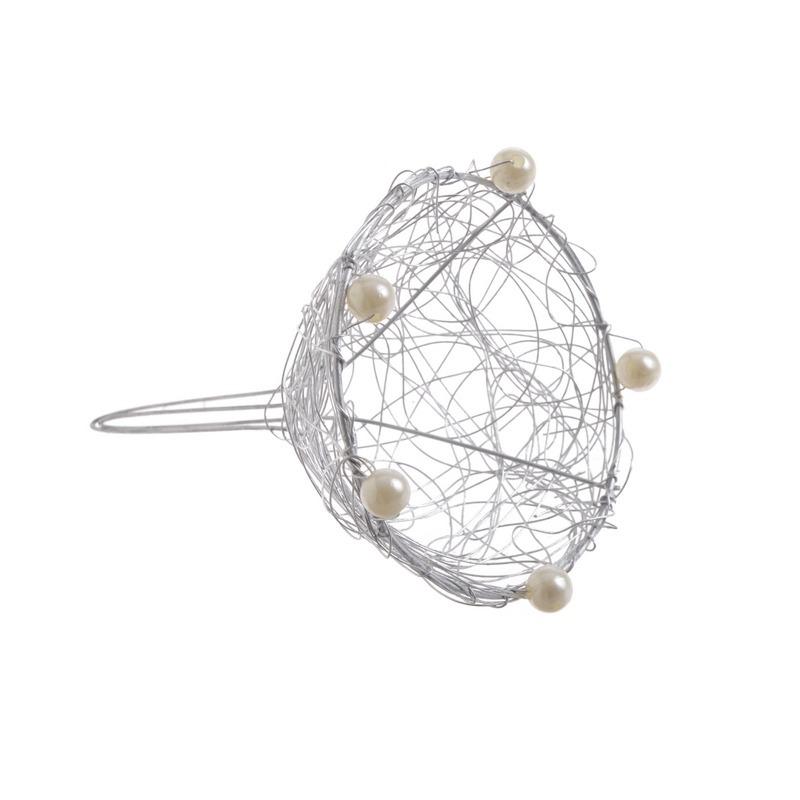 Structura flori tip buchet cu perlute 9