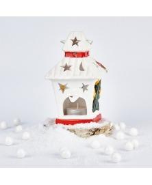 Decoratiune ceramica felinar
