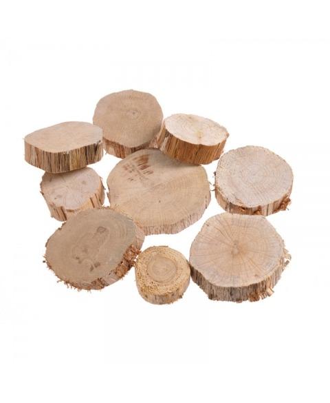Felii de lemn natural rotunde
