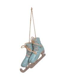 Set patine lemn -albastre