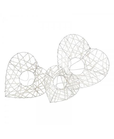 Set structuri flori forma inima