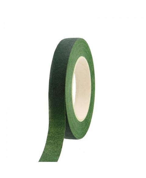 Banda floristica ceruita 1.9cm -verde