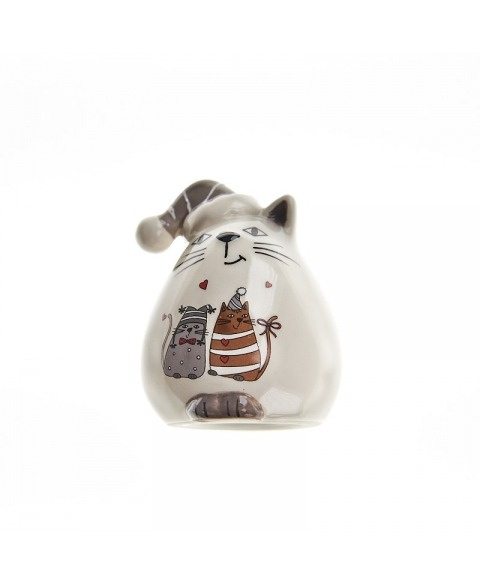Decoratiune de Craciun din ceramica Pisica