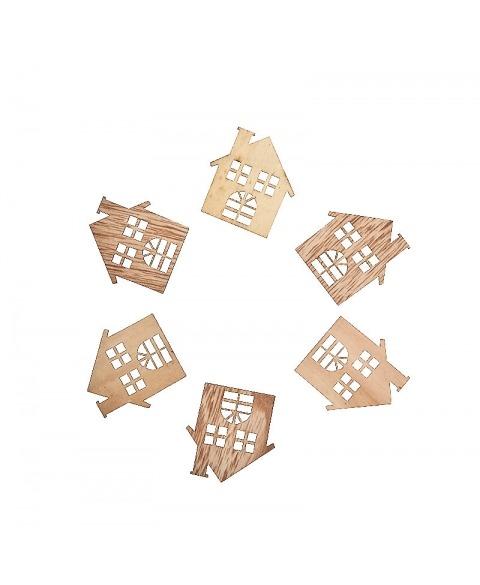 Set elemente de craciun din lemn