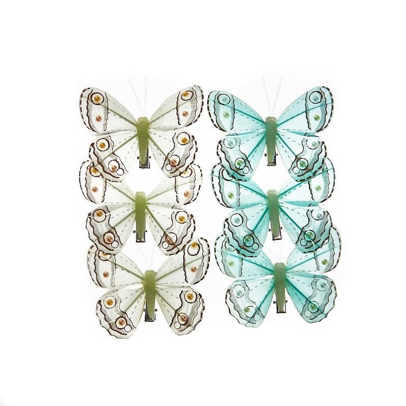 Fluturi Pastel Verde Smarald