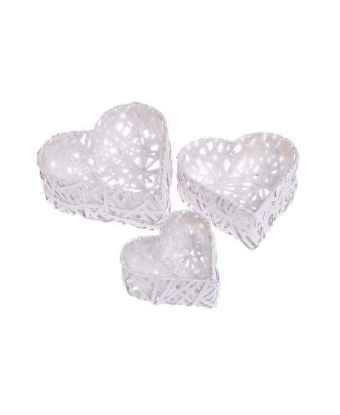 Suport flori inima alb