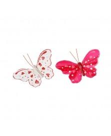 Fluturi rosu cu alb