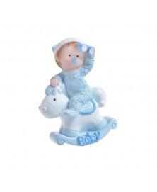 Bebelus in balansoar albastru