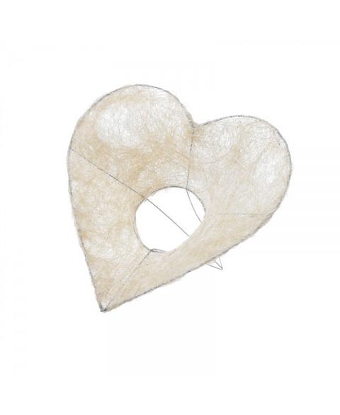 Structura inima acoperita cu sisal alb