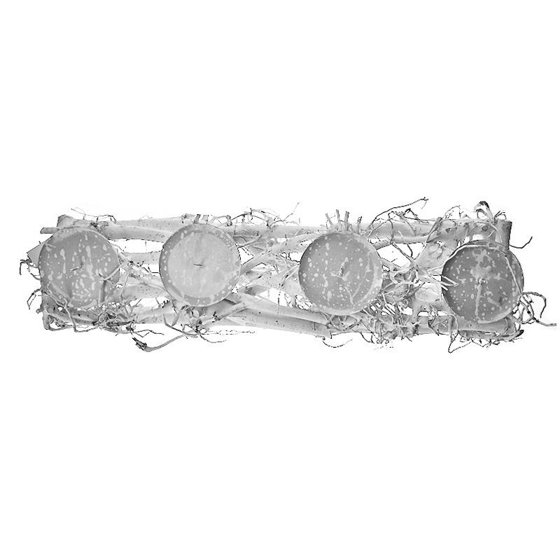 Sfesnic rustic din ramuri alb