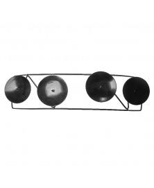 Sfesnic decorativ  metal negru