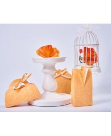 Marturie cutiuta portocaliu piersica -Borsa clip